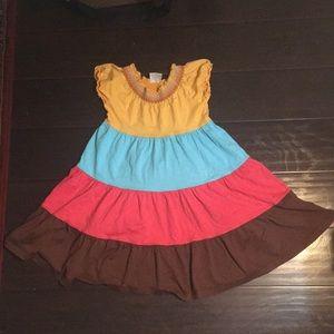 Boho Bohemian Peasant Style Dress 120cm 6x - 7